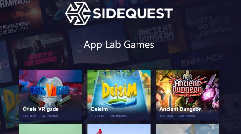Applab.games Is SideQuest's URL For Experimental App Lab Games
